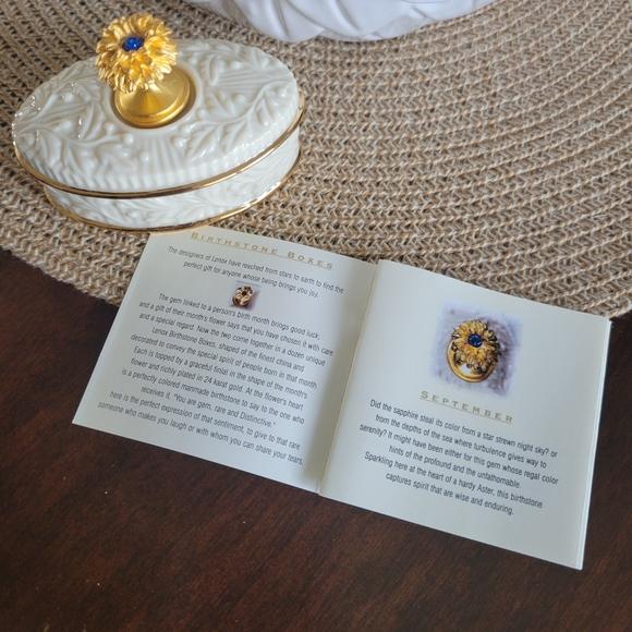 Lenox September Birthstone Oval Trinket Box